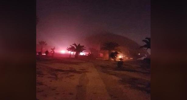 حريق مهول بقصر الرياضة بالمنزه في تونس