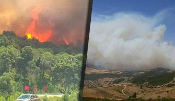 Province de Tétouan : l'incendie d'Aïn Lahcen presque maîtrisé