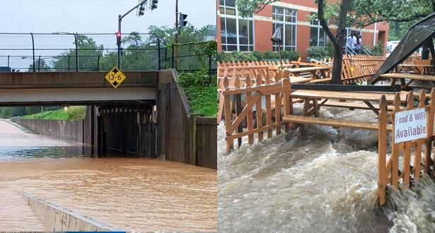 أمطار غزيرة تتسبب بفيضانات في العاصمة الأميركية