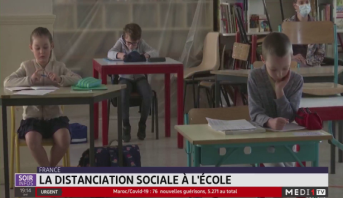 France: la distanciation sociale à l'école