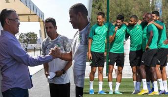 المنتخب الوطني للمحليين يجري آخر حصة تدريبية قبل لقاء الجزائر