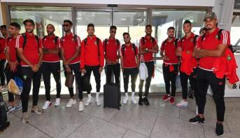بعثة المنتخب الوطني للاعبين المحليين تتوجه إلى الجزائر