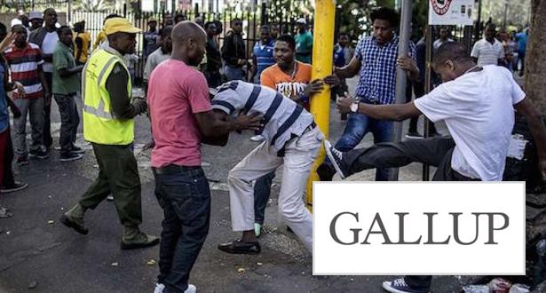 """""""غالوب"""": جنوب إفريقيا خامس أخطر بلد في العالم"""