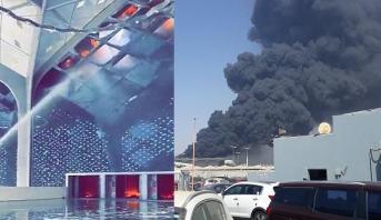 السعودية.. حريق مهول في محطة قطار الحرمين بمدينة جدة
