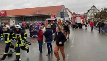 سيارة تدهس مشاركين في كرنفال في ألمانيا وسقوط جرحى