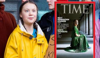 مجلة تايم تختار غريتا تونبرغ الناشطة من أجل المناخ شخصية العام 2019