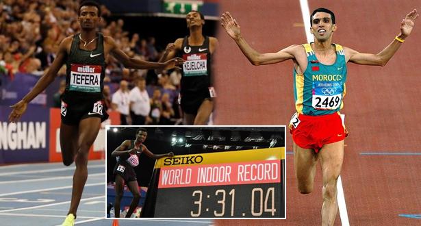 L'Éthiopien Tefera détrône El Guerrouj en battant le record du monde du 1500 m en salle