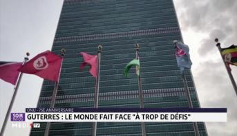 """Guterres: le monde fait face à """"trop de défis"""""""