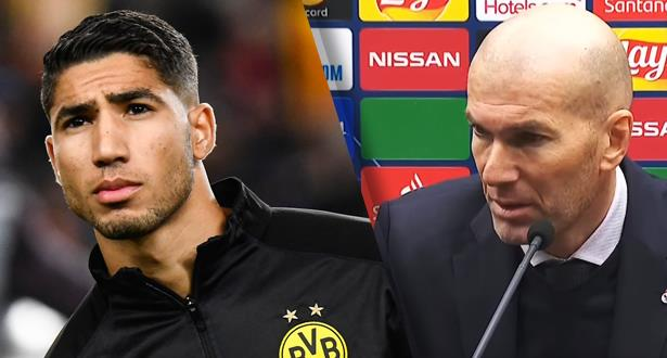زيدان يتحدث عن مستقبل حكيمي مع ريال مدريد