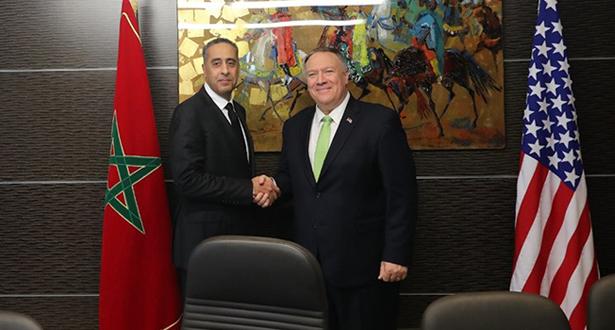 عبد اللطيف الحموشي يجري مباحثات مع وزير الخارجية الأمريكي مايك بومبيو