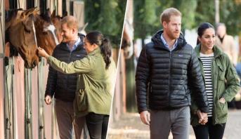 الأمير هاري وعقيلته يطلعان على برنامج الفروسية العلاجية التابع للجامعة الملكية المغربية للفروسية