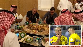 """خلاف حمد الله وأمرابط ينتهي على مائدة """"أكلة سعودية"""""""