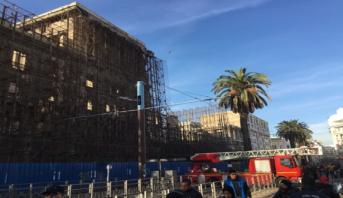 Casablanca : arrêt du tramway dans le centre-ville à cause d'une chute de pierres