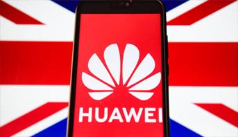 """بريطانيا توافق على إسناد دور محدود لـ """"هواوي"""" لإنشاء شبكة الجيل الخامس"""