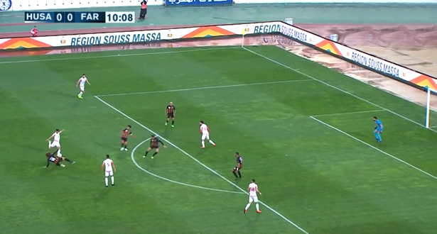 أهداف عالمية ومتعة كروية في مباراة حسنية اكادير والجيش الملكي