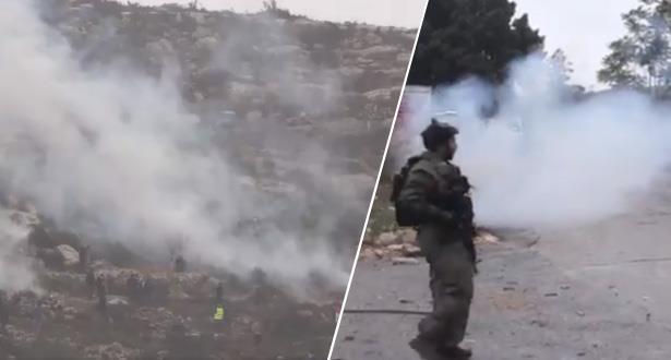 إصابات بالاختناق إثر قمع قوات الاحتلال الإسرائيلي لمسيرة غرب رام الله