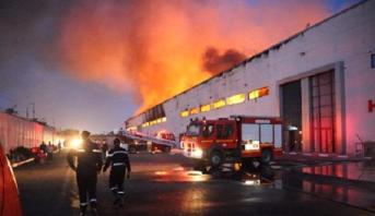 Casablanca: important incendie dans un dépôt de stockage, feu circonscrit