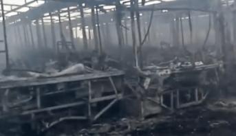 Casablanca: un incendie ravage un dépôt de bus de transport urbain hors d'usage