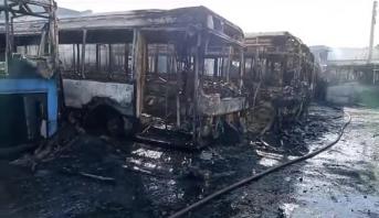 الدار البيضاء .. اندلاع حريق بمستودع لحافلات النقل الحضري