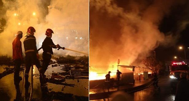 الدار البيضاء.. إخماد حريق شب في خيام بلاستيكية لمهاجرين غير قانونيين