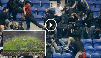 Vidéo: France: La pelouse du Parc OL envahie par des supporters avant Lyon-Besiktas