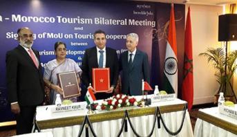 نيودلهي .. التوقيع على مذكرة تفاهم للنهوض بالاستثمار السياحي المغربي- الهندي