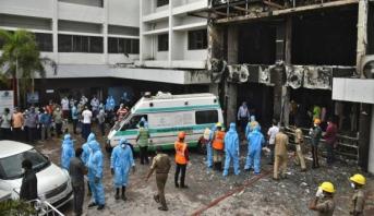 مقتل 5 مرضى كوفيد-19 في حريق بمستشفى غرب الهند