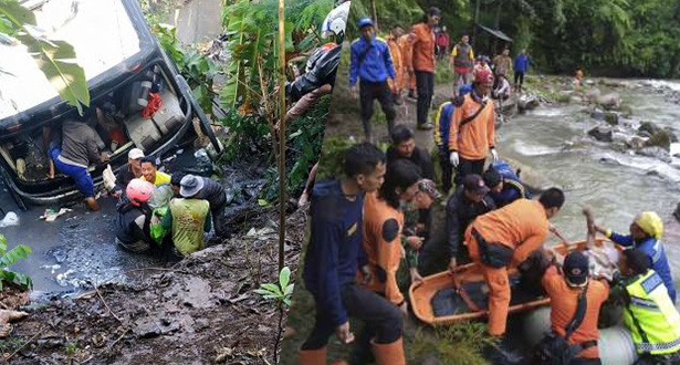 Chute d'un bus en Indonésie: Le bilan s'alourdit