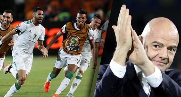 """إنفانتينو يشيد بتألق لاعبي """"الخضر"""" في """"الكان"""""""