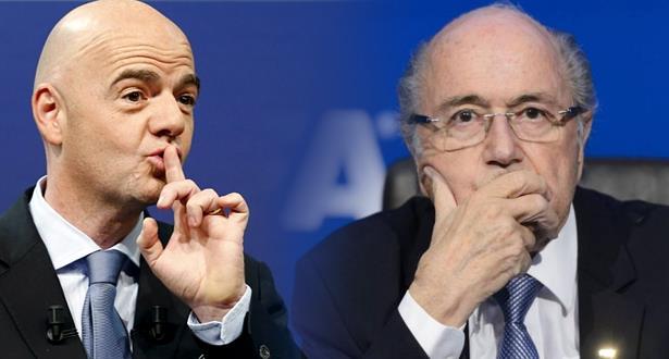 """بلاتر يدعو لجنة الأخلاقيات الى التحقيق بشأن رئيس الـ""""فيفا"""" إنفانتينو"""