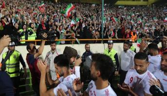 على وقع التشجيع النسائي .. منتخب إيران يفوز بـ 14 هدفا لصفر