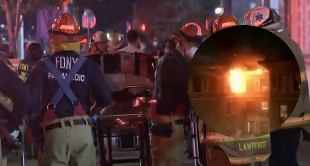 وفاة شخصين أحدهما صبي يبلغ من العمر 12 عاما في حريق بشقة في نيويورك