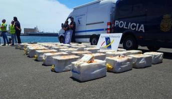 حجز كمية كبيرة من الكوكايين على متن سفينة بعرض مياه جزر الكناري