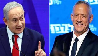 """نتائج الانتخابات الاسرائيلية .. حزب """"أزرق أبيض """" يتصدر القائمة"""