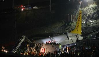 Avion sorti de piste à Istanbul: 120 blessés