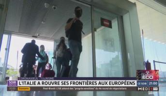 L'Italie rouvre ses frontières aux Européens