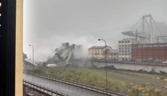 ارتفاع عدد ضحايا انهيار جسر جنوة بإيطاليا إلى 30 شخصا