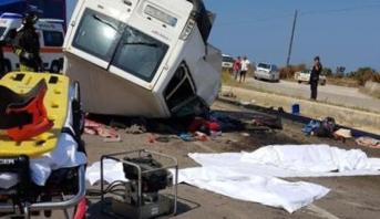 مهاجران مغربيان ضمن ضحايا حادثة سير لعمال فلاحيين بجنوب إيطاليا