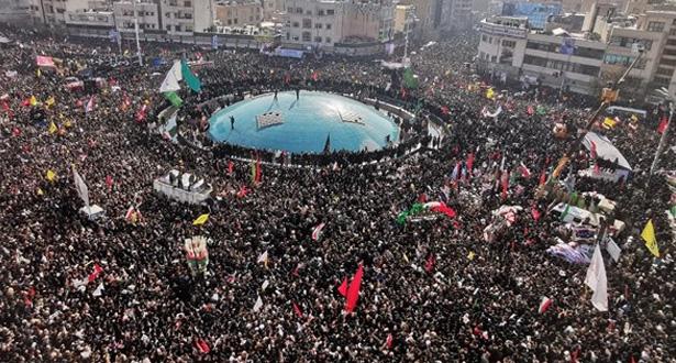 إيران .. ما لايقل عن 35 قتيلا في حادث تدافع خلال جنازة قاسم سليماني