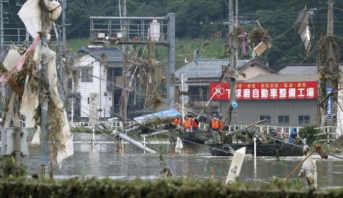 ارتفاع حصيلة ضحايا فيضانات اليابان إلى 34 شخصا