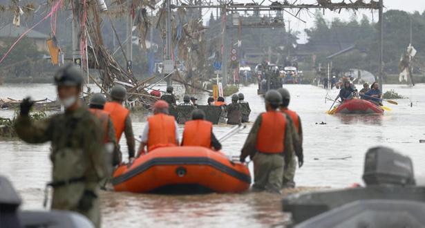44 قتيلا بسبب الأمطار الغزيرة والفيضانات جنوب غرب اليابان