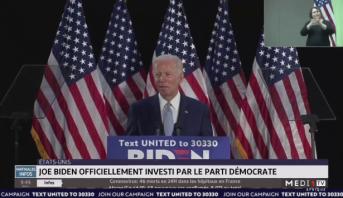États-Unis: Joe Biden officiellement investi par le parti démocrate