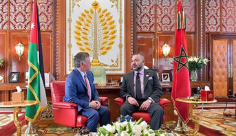Entretiens en tête-à-tête entre le Roi Mohammed VI et le Roi Abdallah II de Jordanie