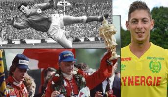 رحيل العديد من الأسماء البارزة في عالم الرياضة عام 2019