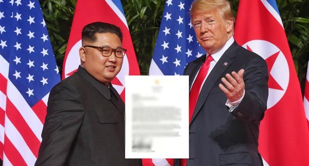 """كيم جونغ تلقى رسالة من ترامب """"مضمونها ممتاز"""""""