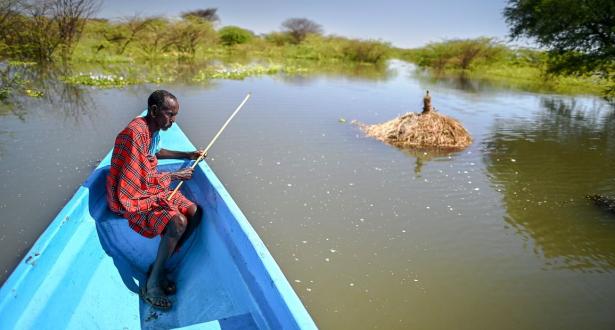 ارتفاع غير مسبوق منذ عقود في مياه البحيرات الكينية