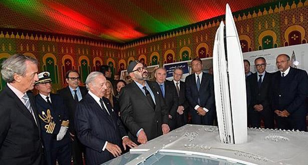 """Le Roi Mohammed VI préside la cérémonie de lancement officiel des travaux de construction de la """"Tour Mohammed VI"""""""