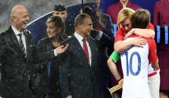 دموع رئيسة كرواتيا وأمطار التتويج تشد أنظار المتابعين