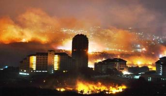 كارثة وطنية في كوريا الجنوبية بسبب حريق مهول