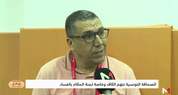 """نقاش حاد بين العواملة والتونسي لبيب الصغير بسبب """"الفار"""" الحكم جيد"""
